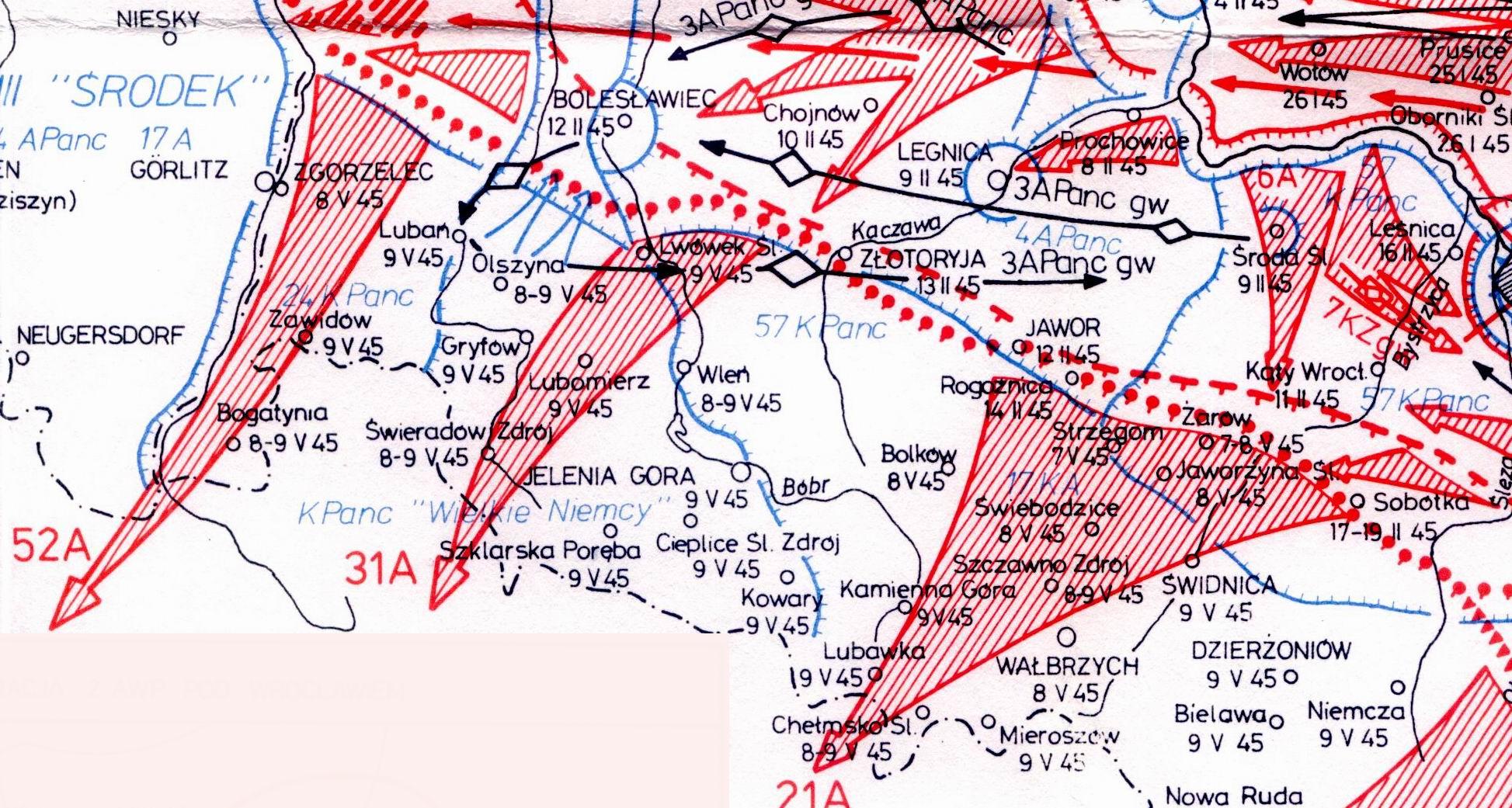 mapa operacji praskiej