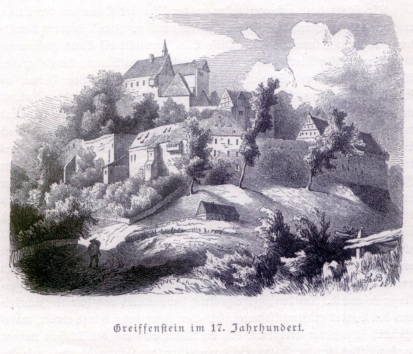 Zamek Gryf w XVII wieku