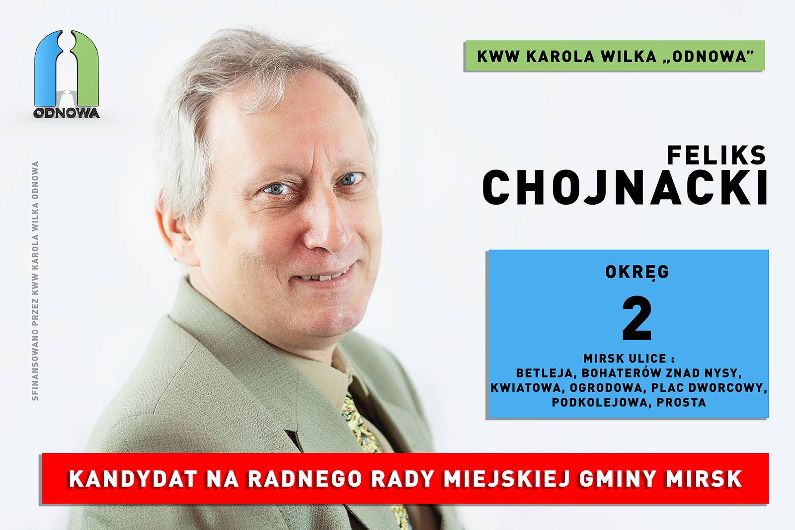 Mirsk, wybory samorządowe 2018, Chojnacki Feliks