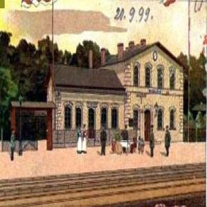 Stacja kolejowa Rębiszów w 1899 r.
