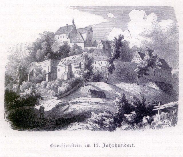 zamek Gryf na rycinie